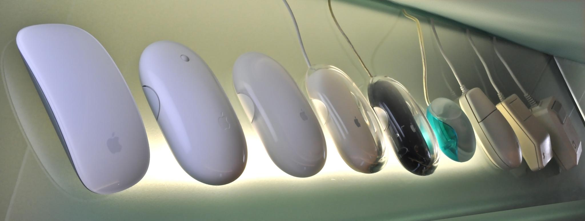 Apple-Mouse-from-1983-to-2009